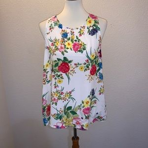 F21 Forever 21 Floral Tank Top Size Large